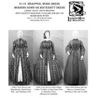 1840s-1860 Ladies Adjustable Morning Dress, Wrapper, and Maternity Dress Pattern by Laughing Moon Mercantile