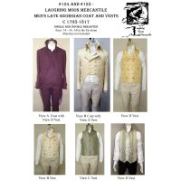 1795-1810 Men's Late Georgian Tailcoat & Men's Late Georgian Vest Pattern Combo by Laughing Moon Mercantile