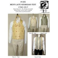 1795-1817 Men's Regency and Romantic Era Vest Pattern by Laughing Moon Mercantile