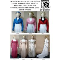1798-1809 Spencer & Round and Trained Gown Combo Pattern by Laughing Moon Mercantile