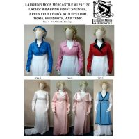 1798-1809 Regency Spencer & Gown, Redingote, & Tunic Combo Pattern by Laughing Moon Mercantile