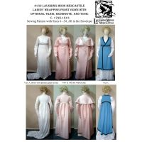 1798-1813 Ladies' Regency Wrapping Front Gown, Redingote, & Tunic by Laughing Moon Mercantile