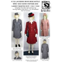 1941-1947  WWII Red Cross Uniform and Ladies' skirted Suit Pattern by Laughing Moon Mercantile