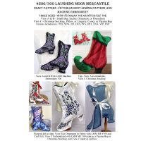 Victorian Boots Craft Pattern 200 with CD 300 Embroidery Designed Combo by Laughing Moon Mercantile