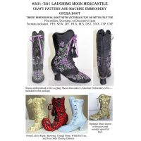 Victorian Boots Craft Pattern 201 with CD 301 Embroidery Designed Combo by Laughing Moon Mercantile