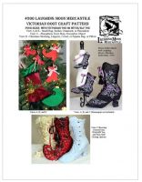 Crafts Pattern 201 - Victorian Boot by Laughing Moon Mercantile