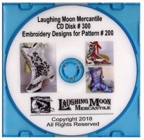 Embroidery Designs for Craft Pattern LM200 by Laughing Moon Mercantile