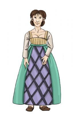 The Elizabethan Lady's Underskirt and Forepart Pattern by Margo Anderson