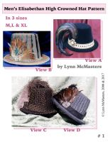 Men's Elizabethan High Crowned Hat by Lynn McMasters