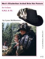Men's Elizabethan Arched Brim Tall Hat Pattern by Lynn McMasters