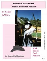 Women's Elizabethan Arched Brim Tall Hat Pattern by Lynn McMasters