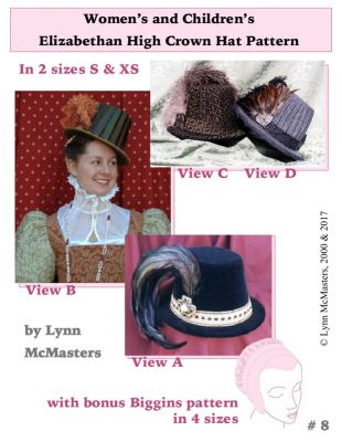 Women's and Children's Elizabethan High Crowned Hat Pattern by Lynn McMasters