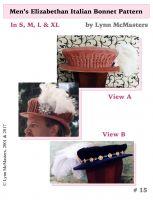 2e86913706a Men s Elizabethan Italian Bonnet Pattern by Lynn McMasters