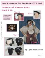 Men's and Women's Tudor & Elizabethan Flat Caps Pattern by Lynn McMasters