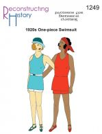 Mid-1920s Ladies� Knit Swimsuit in LARGER SIZES Pattern by Reconstructing History