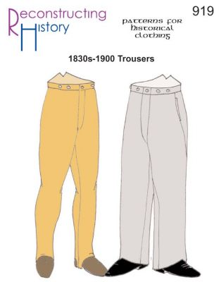 1830s-1900 Trousers Pattern by Reconstructing History