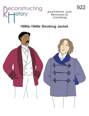 1880s-1930s Smoking Jacket Pattern by Reconstructing History