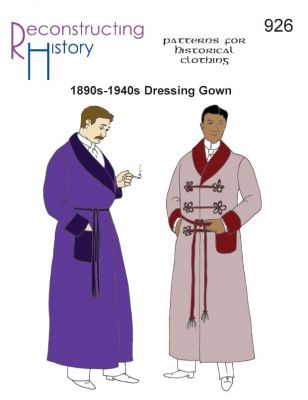1880s-1940s Dressing Gown or Lounging Robe Pattern by Reconstructing History