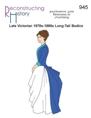 1870s to 1880s Ladies' Long-Tailed Bodice Pattern by Reconstructing History