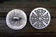 Maltese Celtic Cross Pewter Shank Button 1 Inch (25 mm)