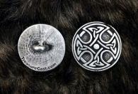 Round Celtic Cross Button Pewter Shank Button 1 Inch (25 mm)