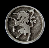 Rampant Unicorn Pin in Pewter