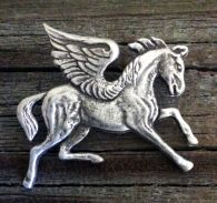Pewter Pegasus Pin