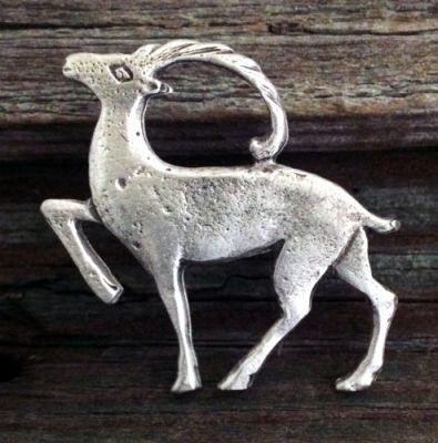 Nordic Deer Pin - Pewter