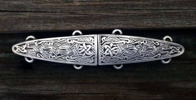 Viking Cloak Clasp - Pewter or Brass Overlay