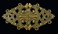 Rumpelstiltskin's Cloak Clasp in Pewter or Pewter with Brass Overlay