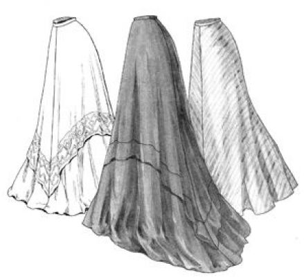 1905 Edwardian Era Circular Skirt Pattern