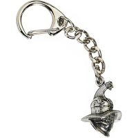 Roman Gladiator Helmet Key-Ring - Pewter
