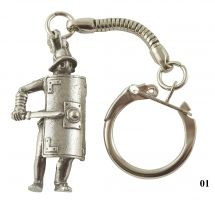 Gladiator Figure Key-Ring - Pewter