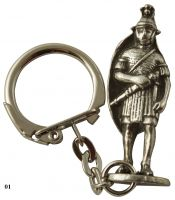Roman Figure Key-Ring - Pewter