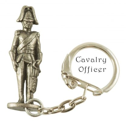 Scottish Figure Key Ring (4 Different Figures Available) - Pewter