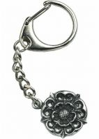 Tudor Rose Key-Ring Cast in Fine Quality English Pewter