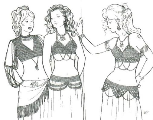 Azita's Crocheted Bras and Belts Pattern