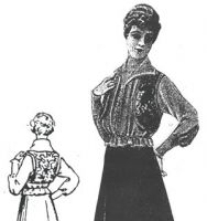 1915 Silk Blouse w/Velvet Vest Sewing Pattern by Ageless Patterns