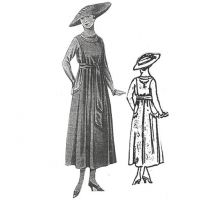 1917 Embroidered Wool Dress with light braiding Sewing Pattern by Ageless Patterns.
