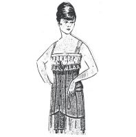 1917 Long Corset of Drill Sewing Pattern by Ageless Patterns