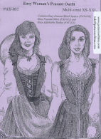 Easy Renaissance Women's Peasant Outfit Sewing Pattern by Alter Years