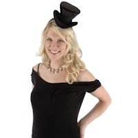 Cocktail Top Hat Headband - Black