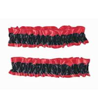 Old Fashioned Armband/Garter - Black/Red