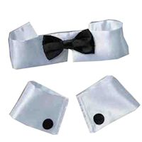 Collar, Cuffs and Tie Set - Costume Accessory