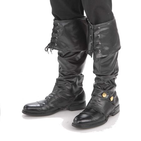 Deluxe Pirate Boot Covers with Side Studs