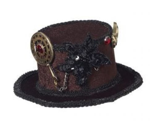 Mini Steampunk Top Hat with Gears by Forum Novelties