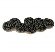 8 Piece Set of Metal  Steampunk Buttons by Forum Novelties