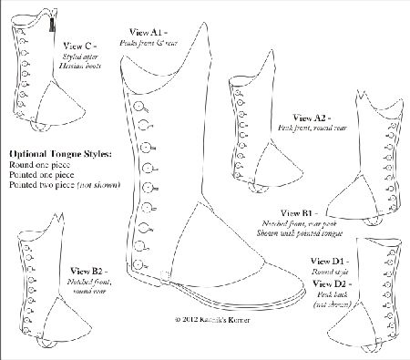 1790-1820 Man's or Woman's Gaiters or Spatterdashes For Infantry, Militia and Civilians Pattern