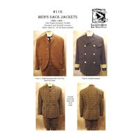 1860 to 1900 Men's Sack Jackets Pattern by Laughing Moon Mercantile