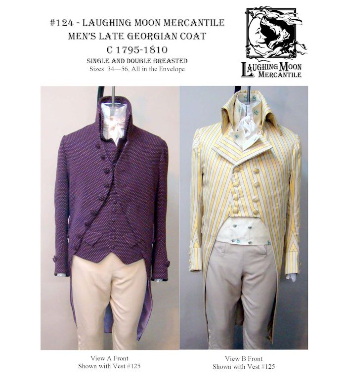 Patterns of Time 1795-1810 Men\'s Late Georgian Coat Pattern by ...